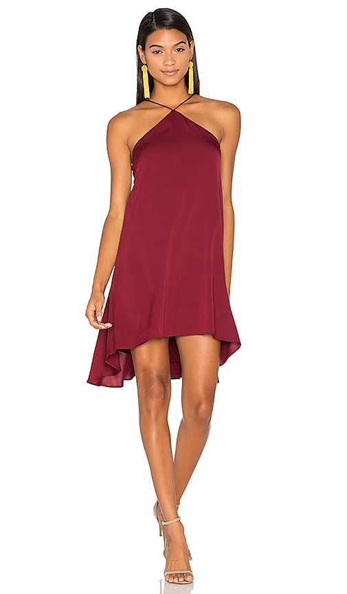 Silk Cascade Halter Dress