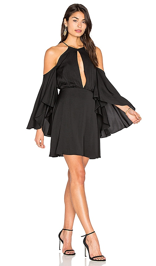 MILLY Silk Melody Dress in Black