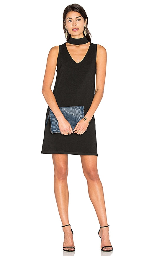 MILLY Italian Structured Shift Dress in Black