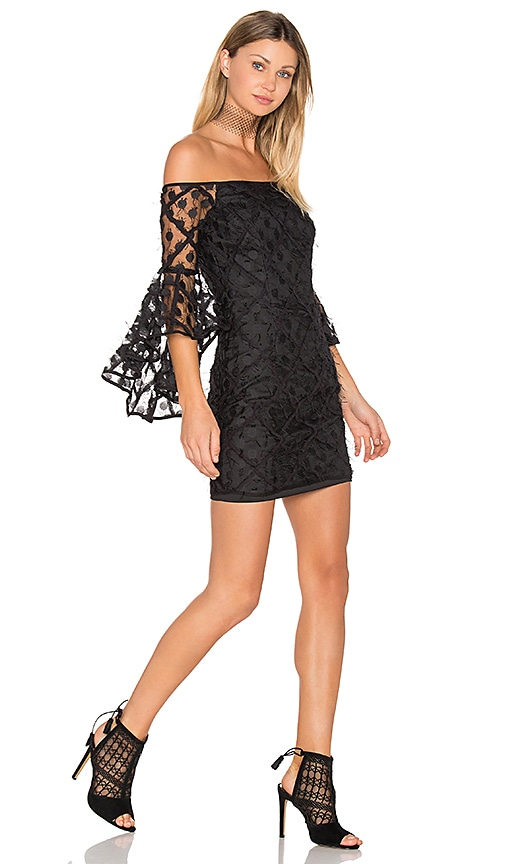 MILLY Selena Mini Dress in Black