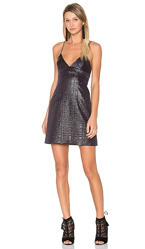 MILLY Jacquard Julia Dress in Black