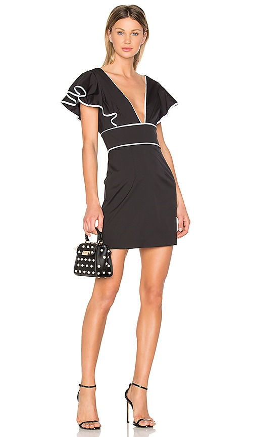 MILLY Deni Dress in Black