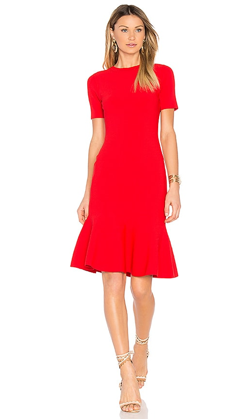 MILLY Mermaid Hem Dress in Red