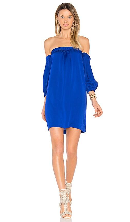 MILLY Off Shoulder Dress in Blue