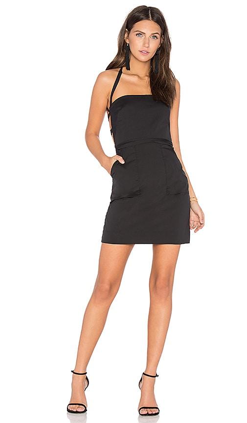 MILLY KOURTNEY DRESS, BLACK