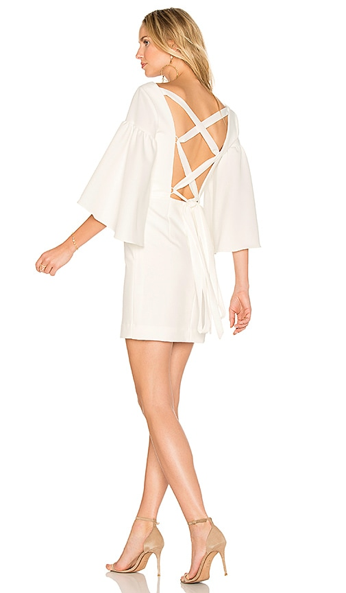 MILLY Cady Bell Dress in White