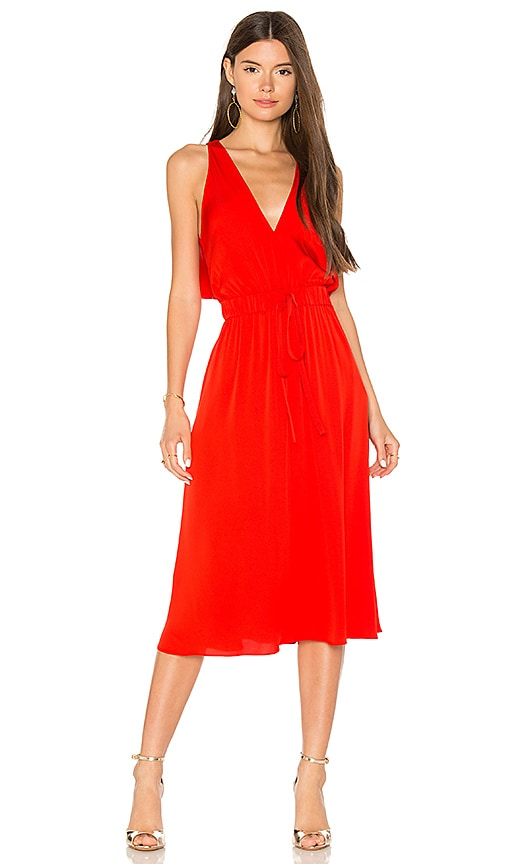 MILLY Reese Dress in Red