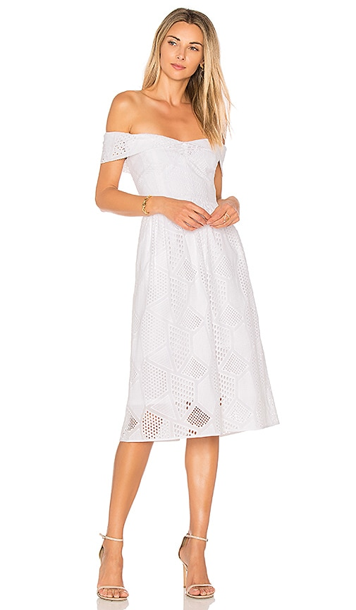 MILLY Louisa Dress in White