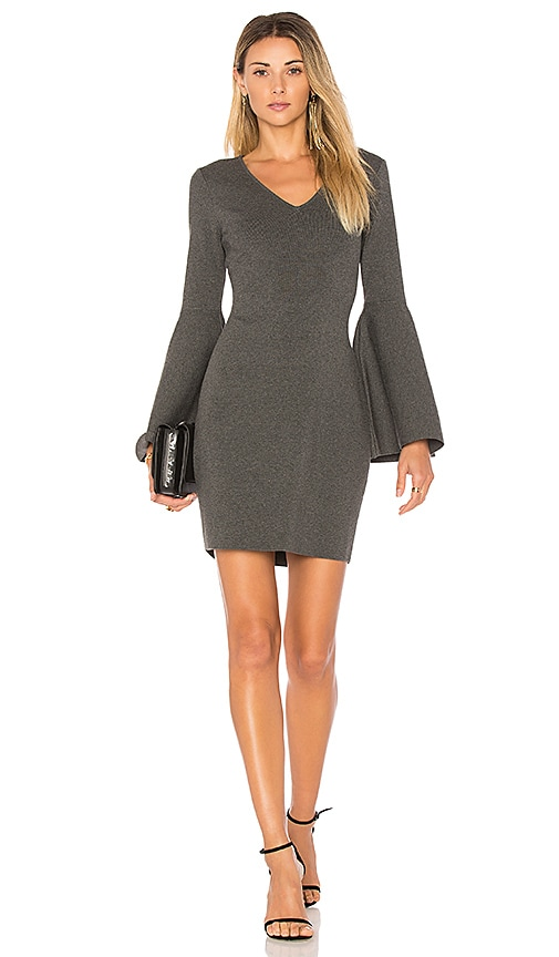 MILLY Swing Dress in Charcoal
