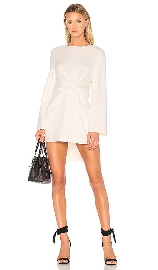 MILLY Twist Tie Dress in White