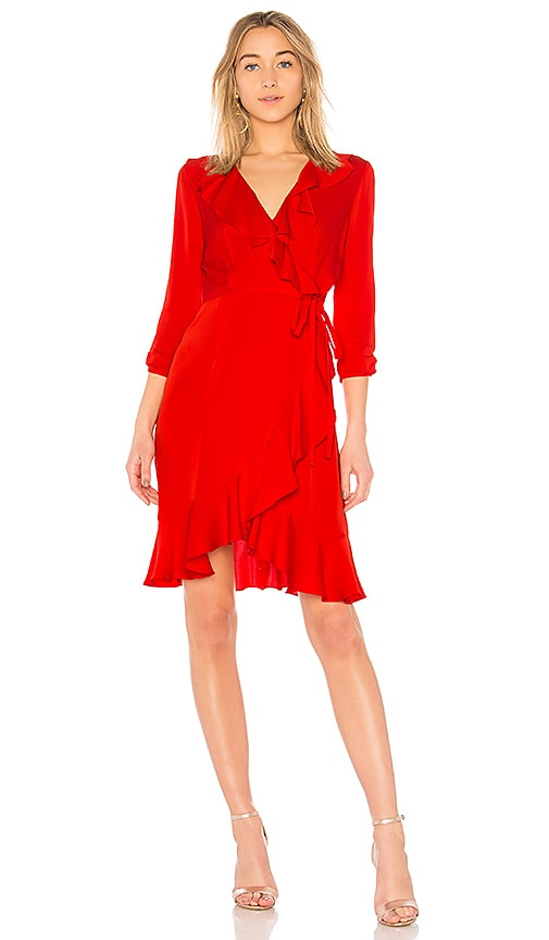 MILLY Audrey Dress in Red