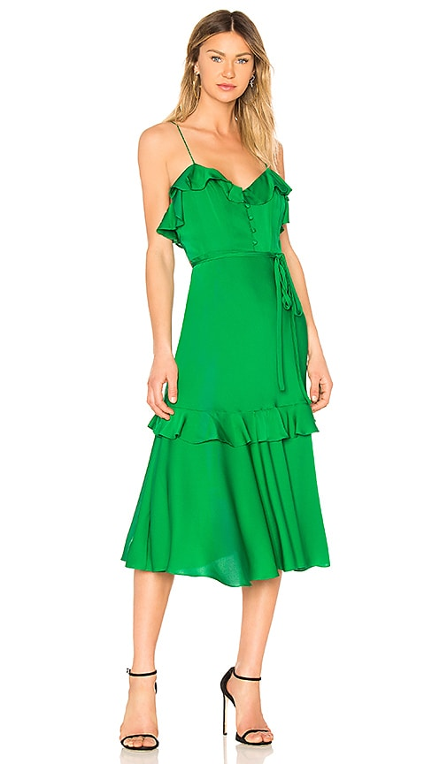 MILLY Petal Dress in Green