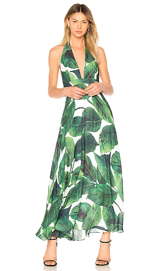 MILLY Charlie Gown in Emerald | REVOLVE