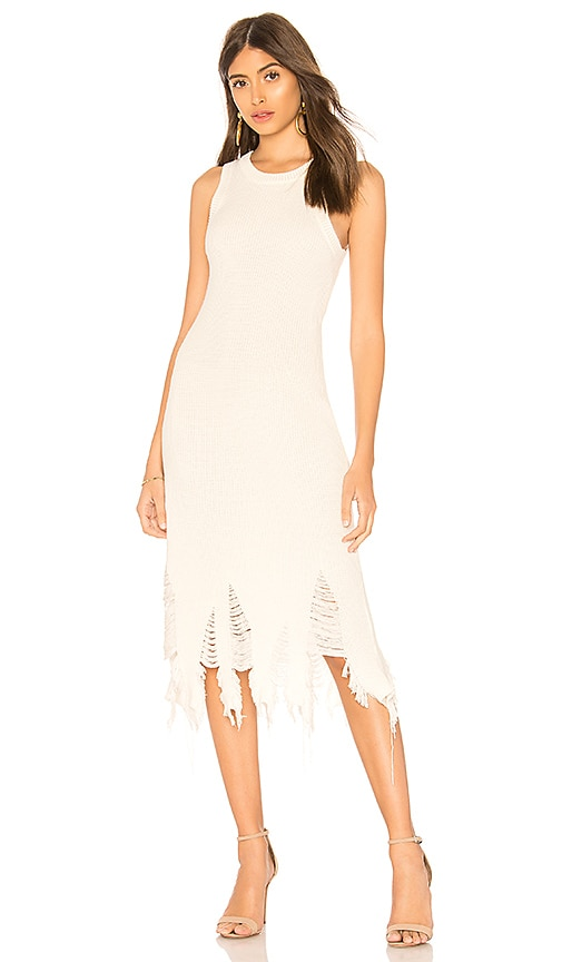 MILLY Deconstructed Dress in White
