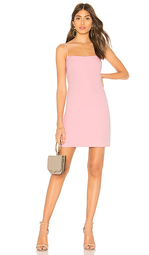 MILLY Mini Slip Dress in Pink