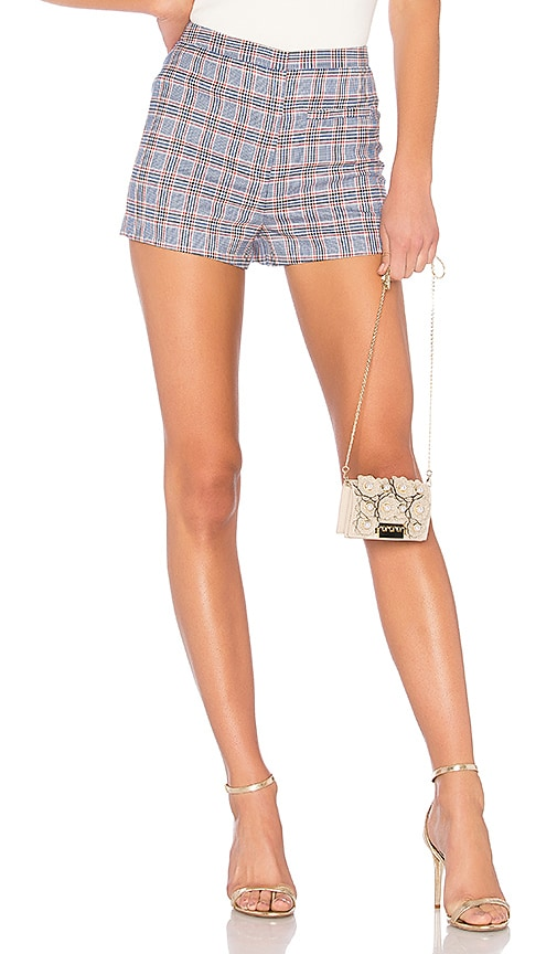 MILLY High Waist Trudee Short in Blue