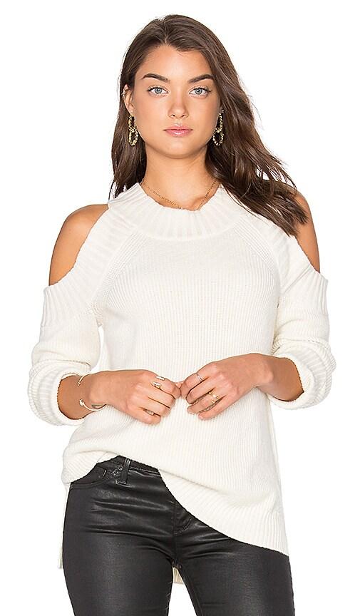 MILLY Peekaboo Sweater in Ivory