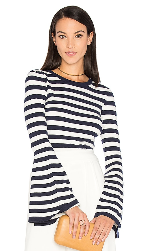 MILLY Bell Sleeve Sweater in Navy