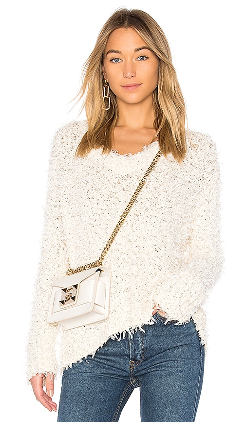 MILLY Mache Pullover in Ivory