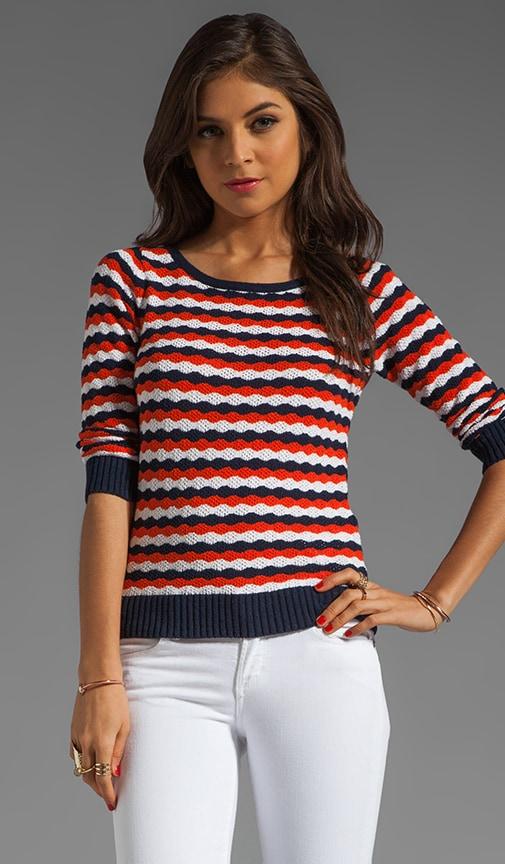 Wave Boatneck Sweater