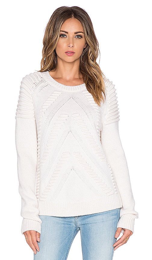 MILLY Stitch Sweater in White