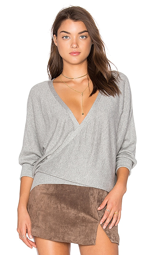 MILLY Front To Back Sweater in Gray