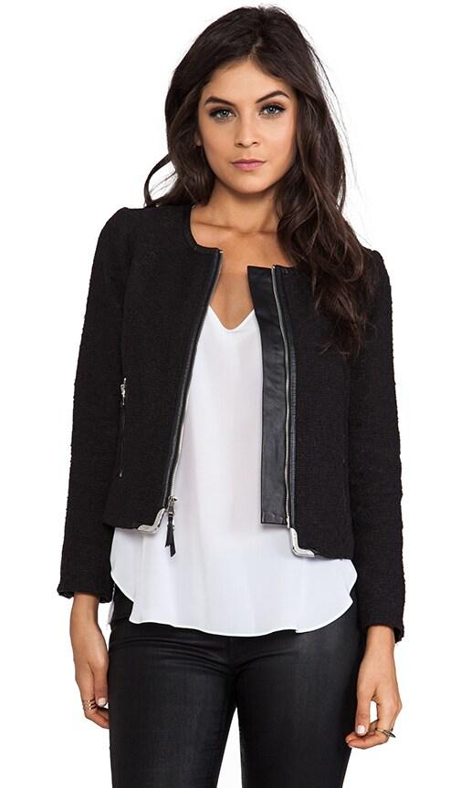 Biella Tweed Harper Zipper Jacket