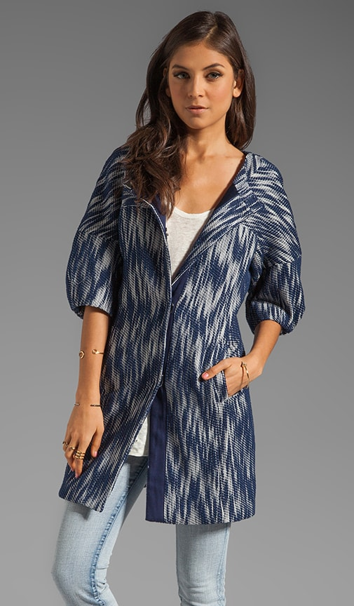 Ikat Jacquard Bianca Day Coat