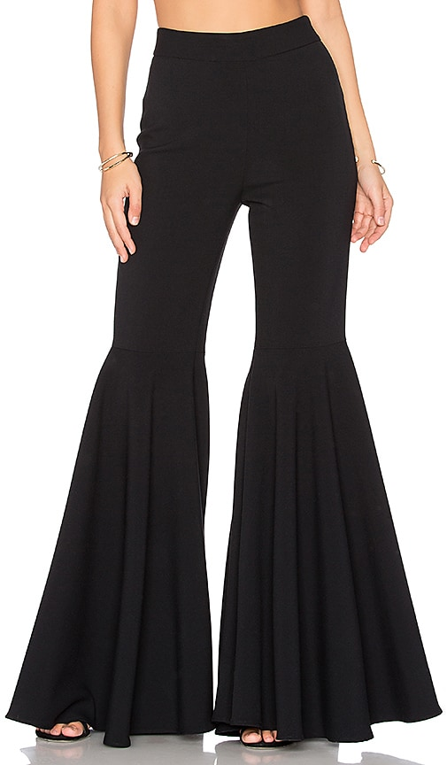 MILLY Flared Pants in Black