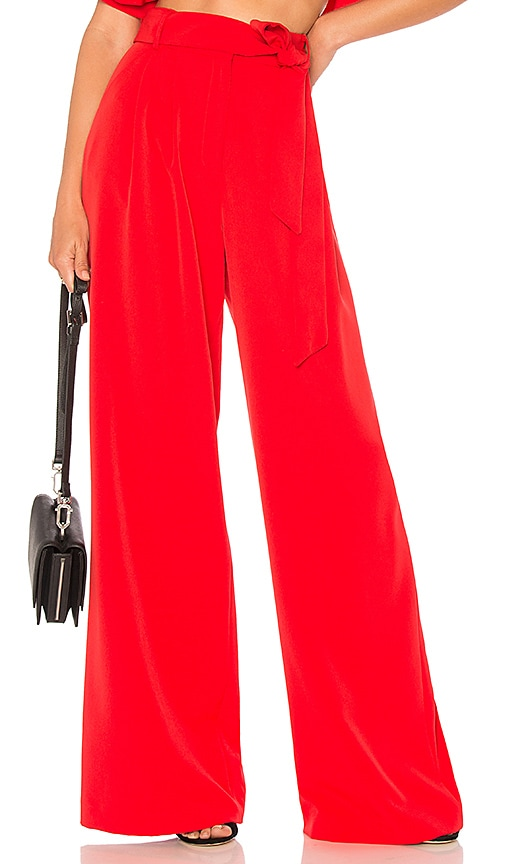 MILLY Natalie Pant in Red