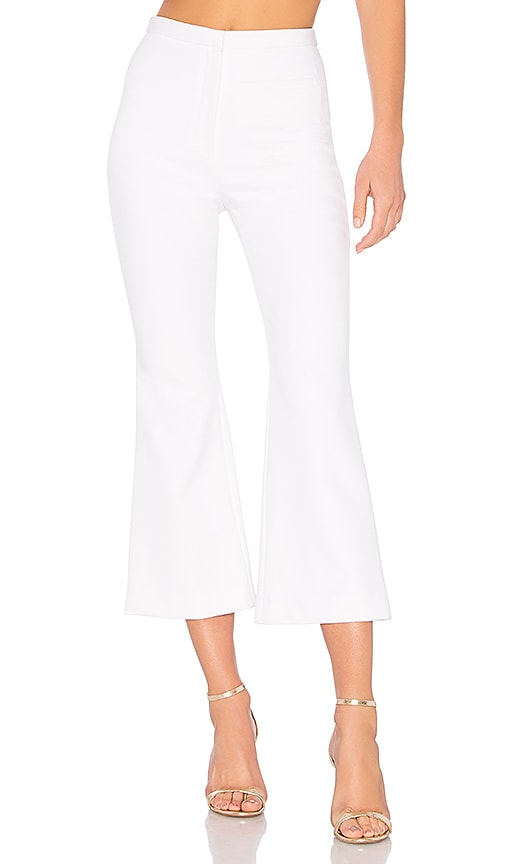 MILLY Trudee Flood Pant in White