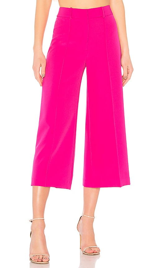 MILLY Cropped Hayden Pant in Fuchsia