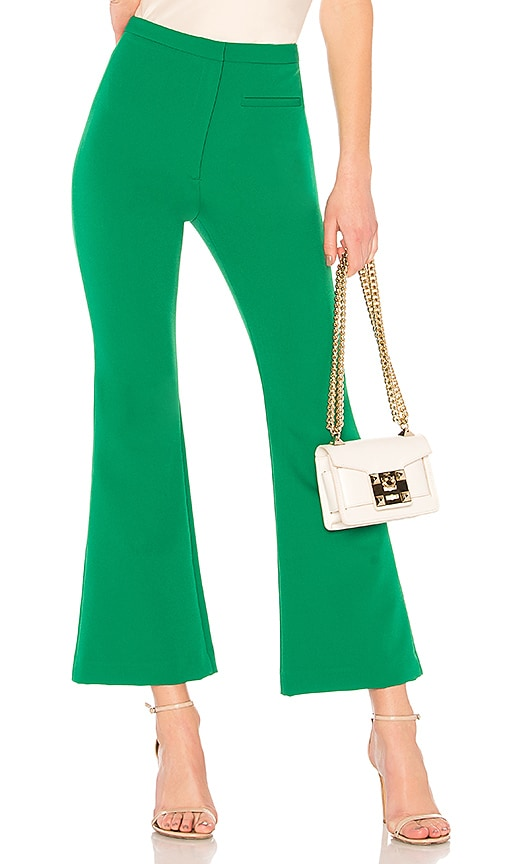 MILLY High Waist Trudee Pant in Green