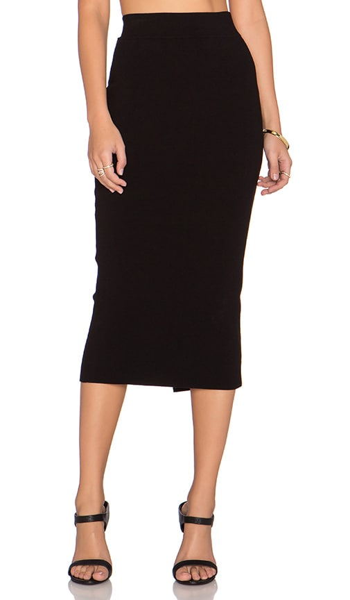 MILLY Fitted Pencil Skirt in Black