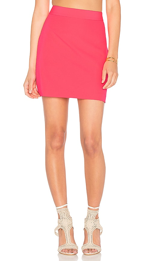 MILLY Modern Mini Skirt in Pink