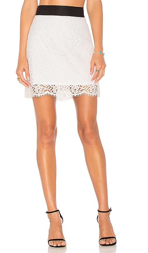 MILLY Grain Skirt in White