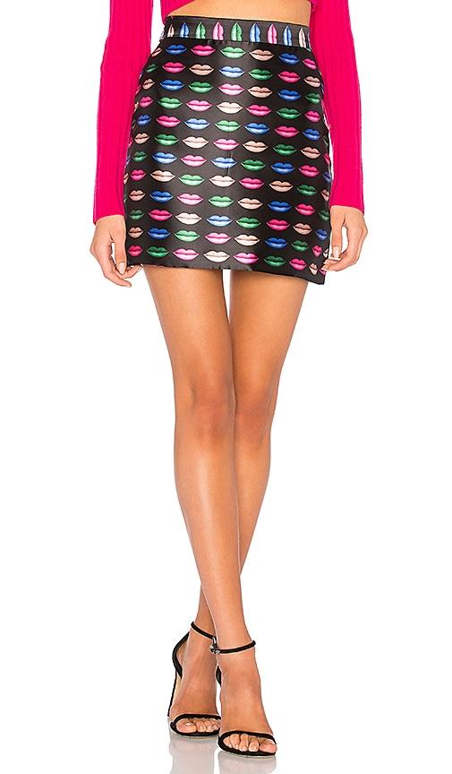 MILLY Kiss Modern Mini Skirt in Black