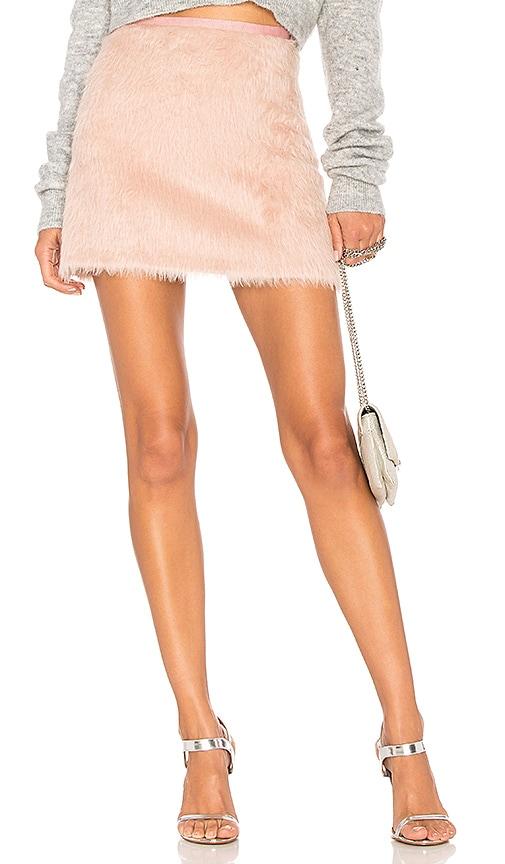 MILLY Alpaca Mini Skirt in Pink