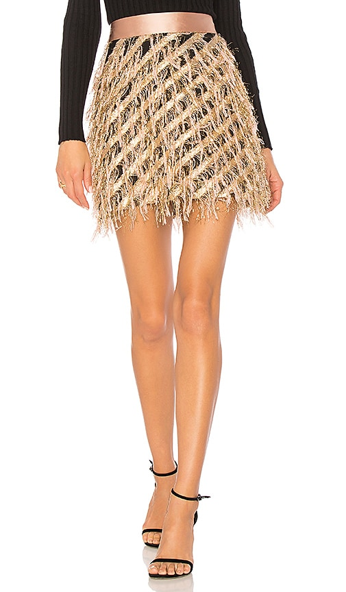 MILLY Diagonal Modern Mini Skirt in Pink