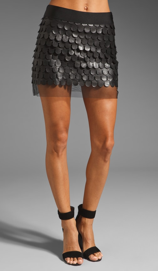 Leather Dot Mini Skirt
