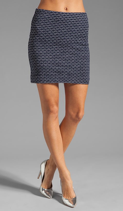 Italian Wavestitch Stella Stretch Mini Skirt