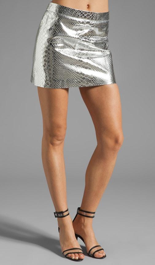Mirrored Python Mini Skirt