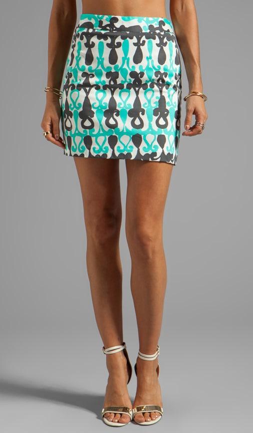 Moroccan Print A-line Mini Skirt