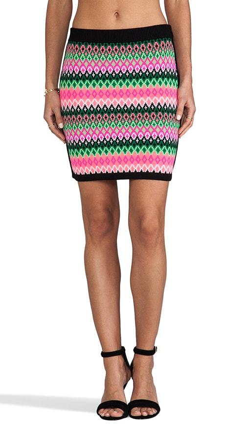 Knit Reversible Kuji Jacquard Skirt