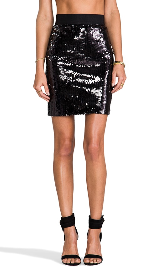 Stretch Sequins Skirt