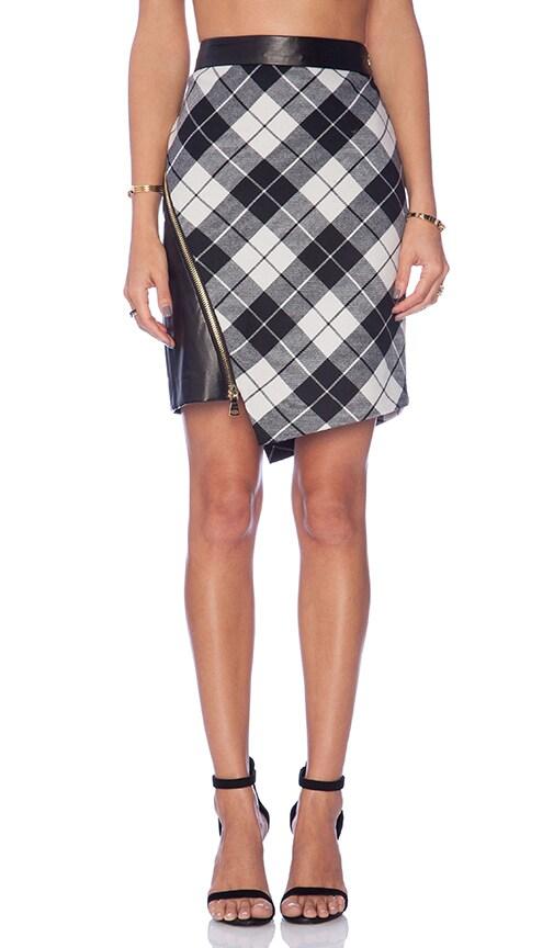 Tartan Slit Mini Skirt