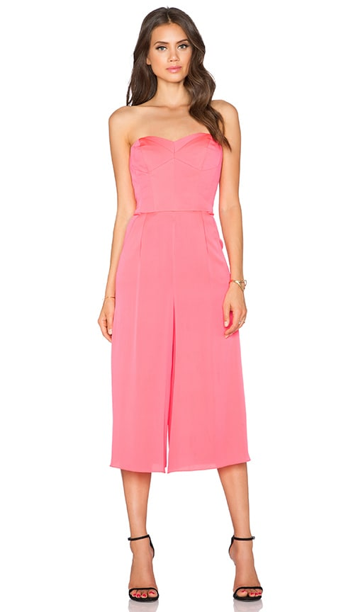 ac399697f498 Strapless Culotte Jumpsuit. Strapless Culotte Jumpsuit. MILLY