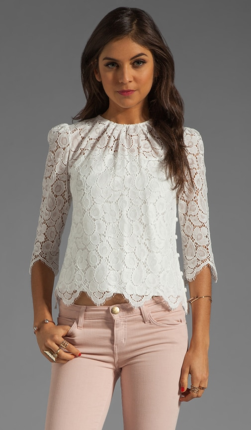Begonia Scallop Lace Ivy Blouse