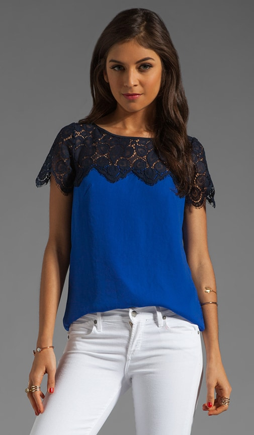 Begonia Scallop Lace Mila Top