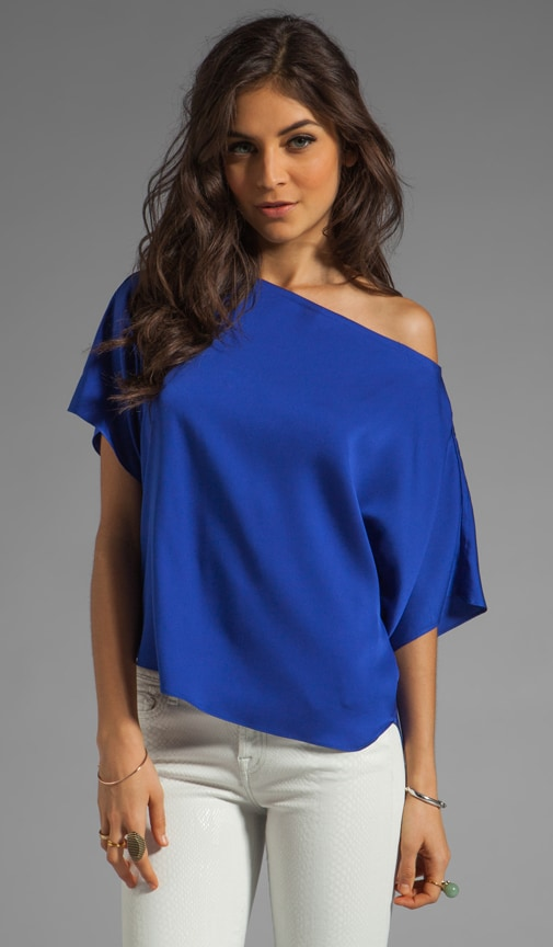 Matte Stretch Silk Dolman Top